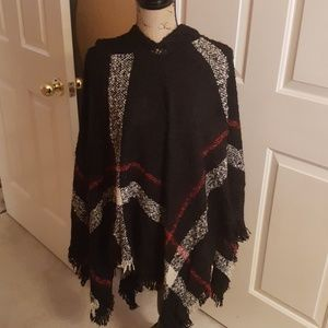 Plaid Hooded Cape One Size OS ❤Offers Welcome❤
